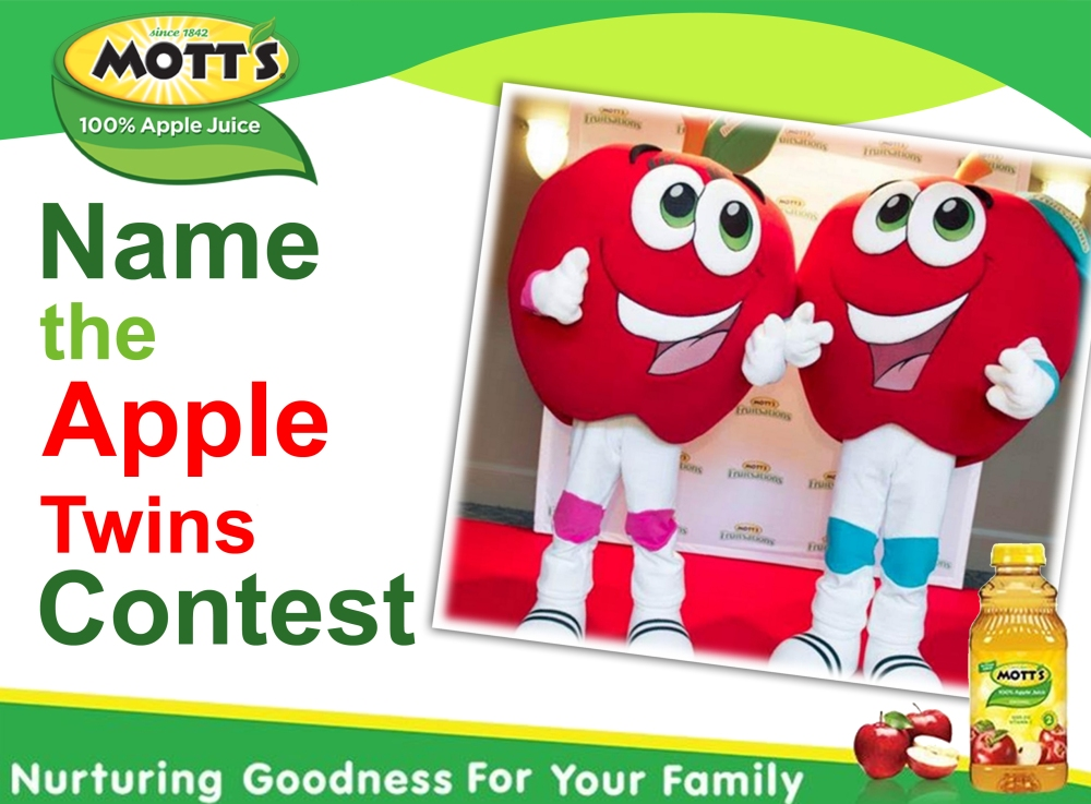 Mott's Name the Apple Twins Contest